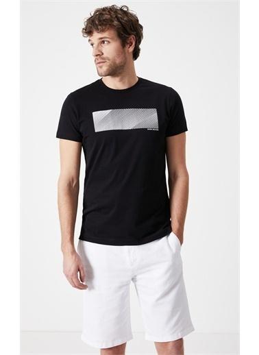 Boris Becker Slim Fit Baskılı Erkek T-shirt Siyah